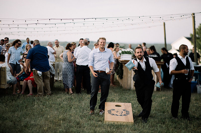Bay View Weddings Corn Hole at Happy Hour