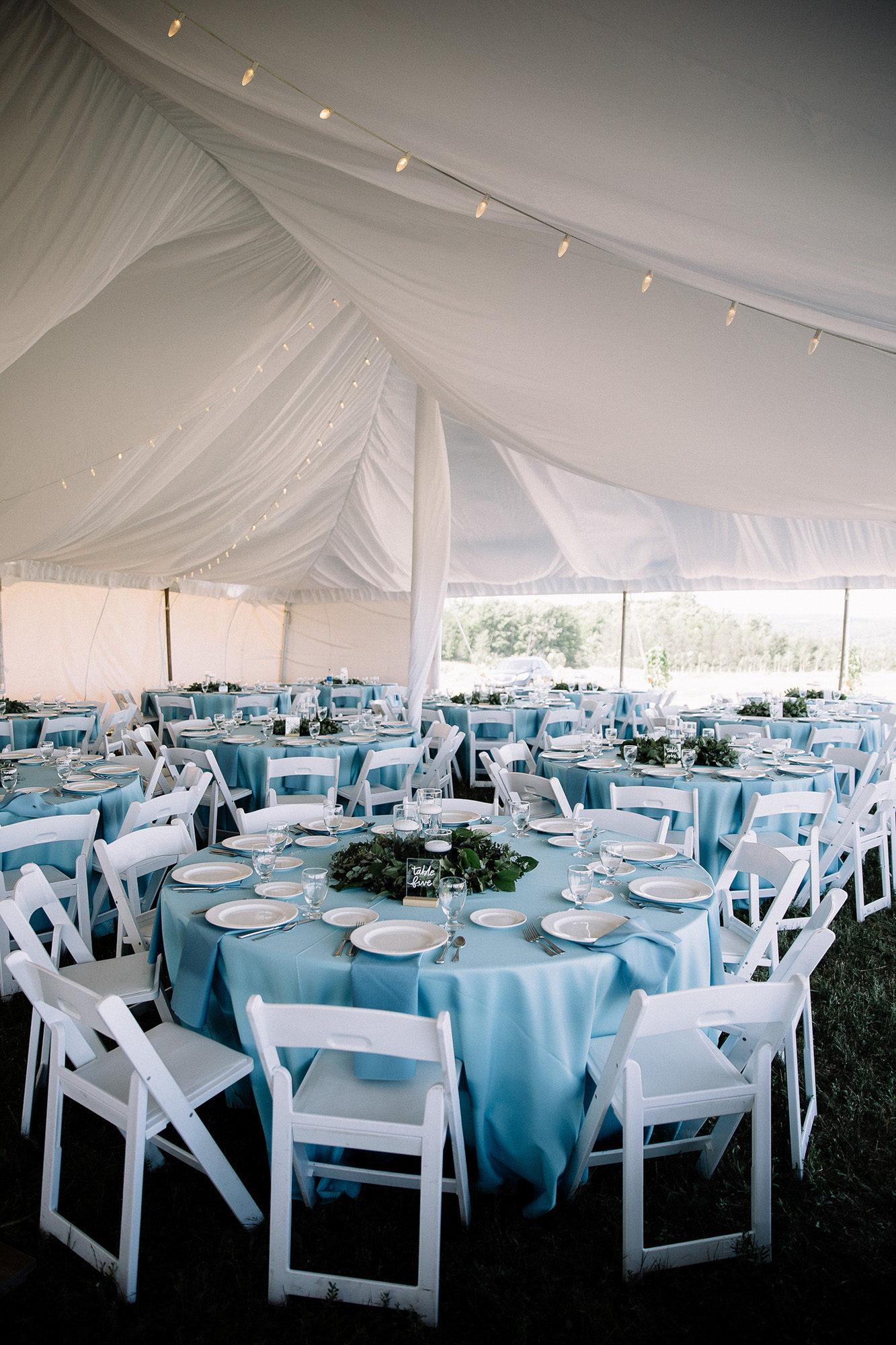 Bay View Weddings Reception Tent Interior